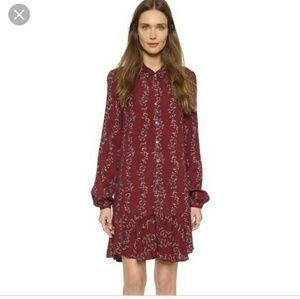 Free people slubby crinkle button down dress